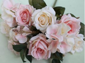 Букет роза-гортензия 42 см